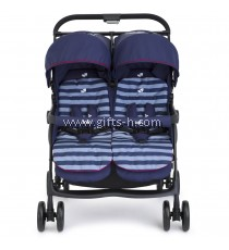 Joie Aire Twin Stroller - Nautical Navy